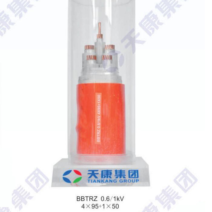 Flexible mineral insulated fireproof cable BBTRZ