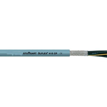 ÖLFLEX® CLASSIC 415 CP Screened, abrasion- and oil-resistante PUR control cable